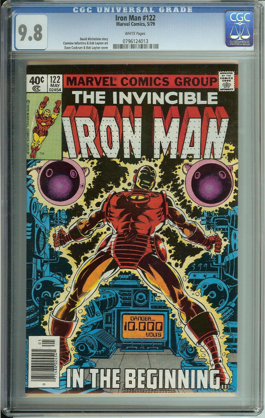 Iron Man # 122 CGC 9.8  WP