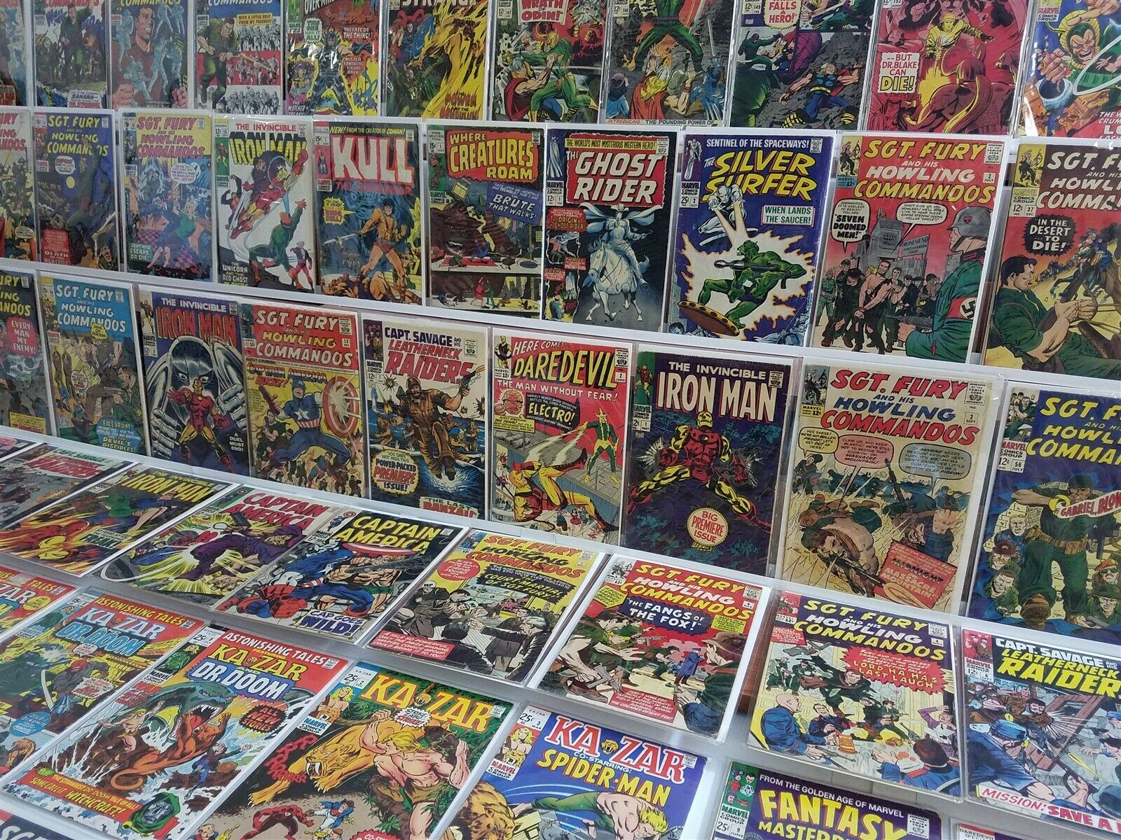 100 Silver Age Marvel ONLY Iron Man 1 Daredevil 2 Silver Surfer Thor Sgt Fury 2+