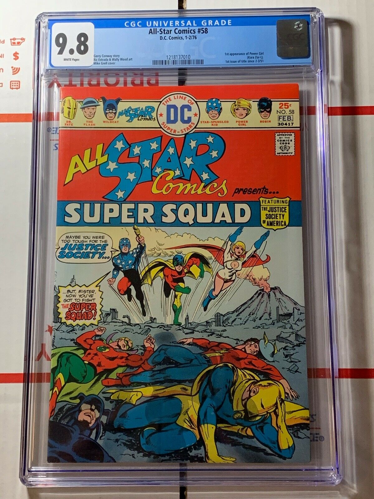 All-Star Comics #58 (DC Comics 1976) CGC 9.8 FIRST APPEARANCE OF POWER GIRL