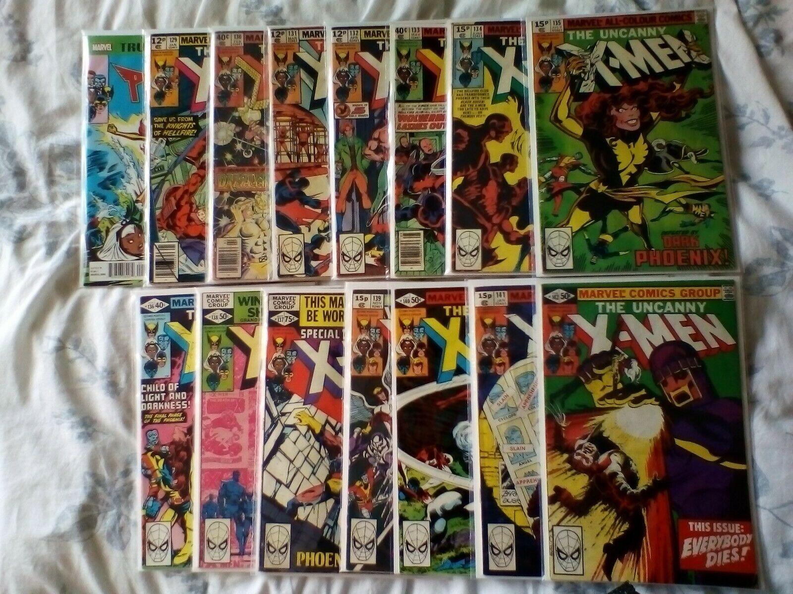 Uncanny XMen X-Men 101,129,130,131,132,133,134,135,136,137,138,139,140,141,142