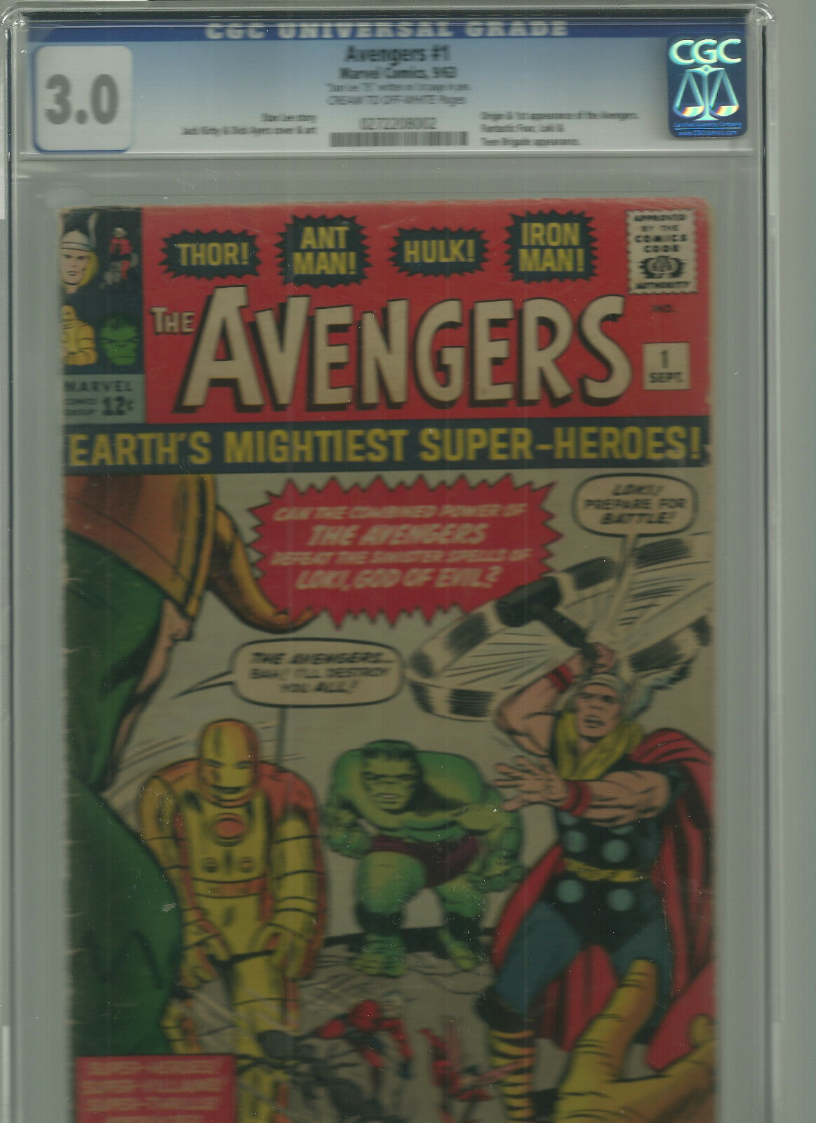AVENGERS COLLECTION 1- 263+ dbls abt 325 comics, #1 CGC 3.0 Stan Lee Auto