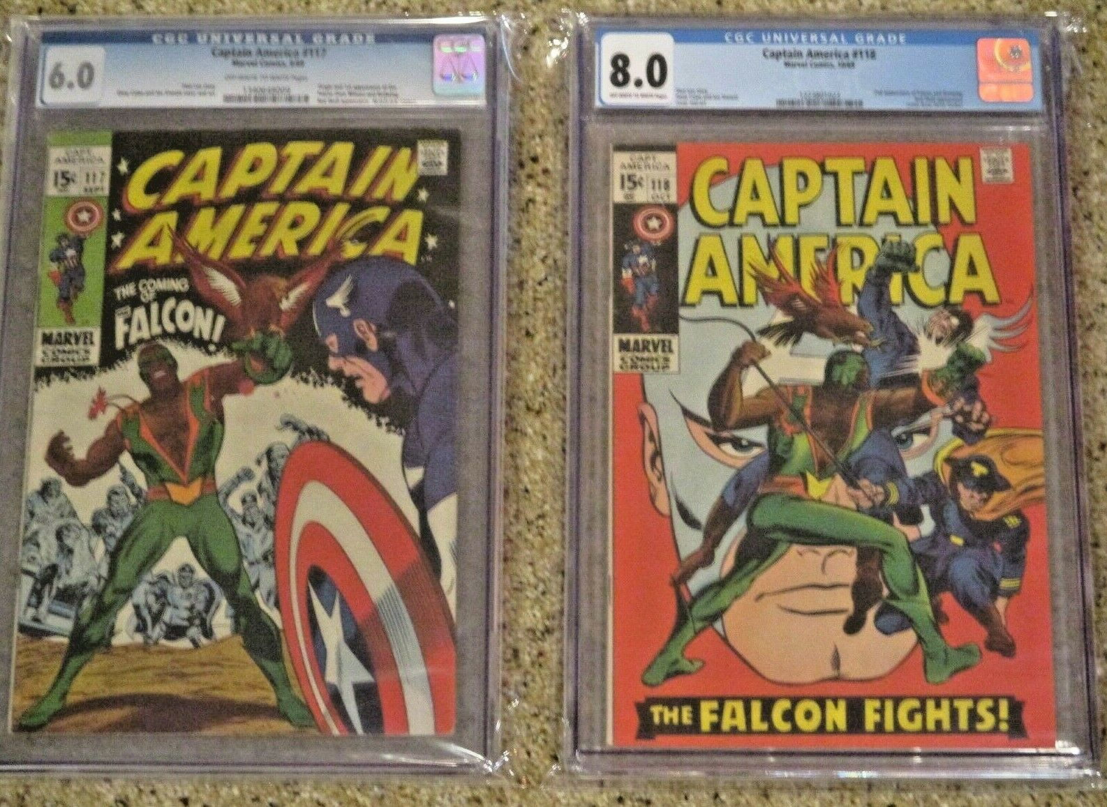 Captain America #117 & #118 - Marvel Silver Age Keys - 1st & 2nd App's Falcon