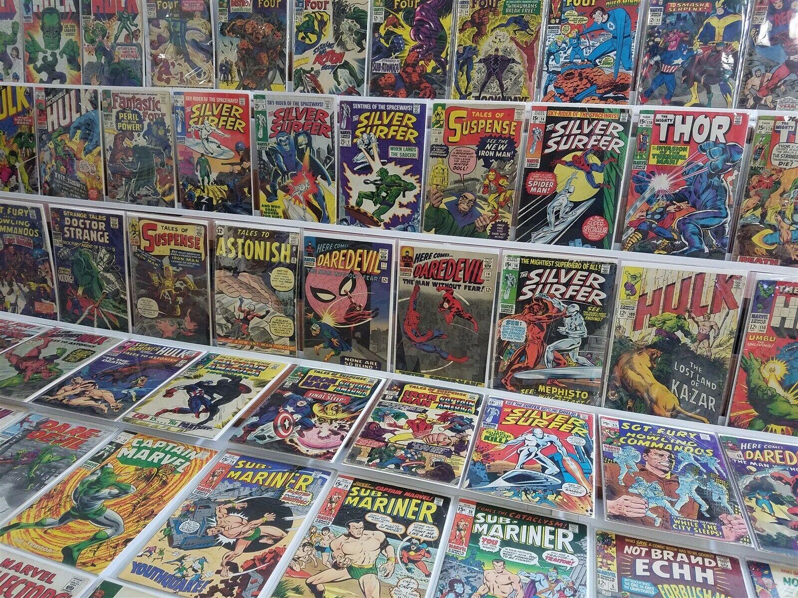 100 Marvel Silver Lot Silver Surfer 2 14 Daredevil 16 17 ToS 42 Iron Man TTA 36