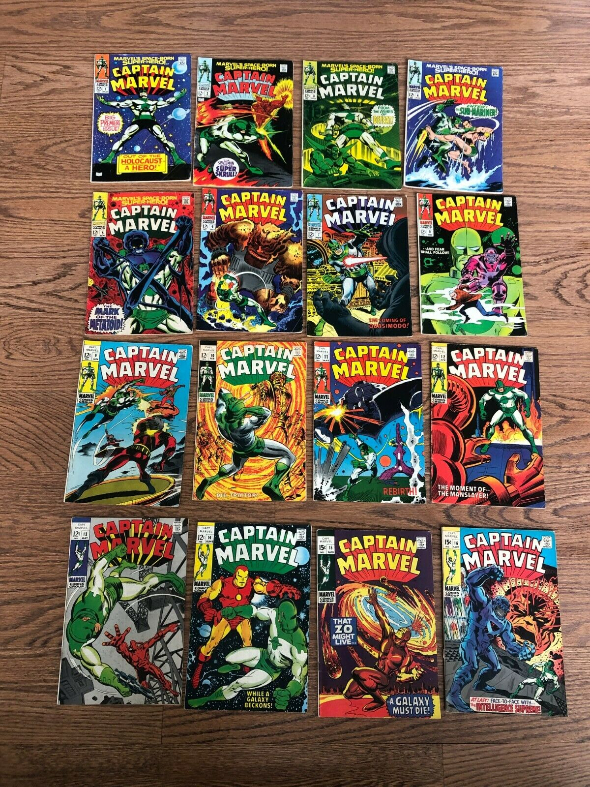 Captain Marvel - Lot of Comics (#1 - #57) - Marvel (1968 - 1978).