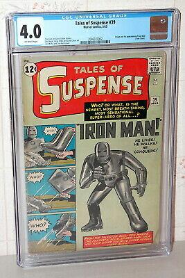 Tales of Suspense #39 Origin & 1st App. Iron Man Marvel Comic 1963 CGC 4.0