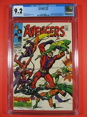 The Avengers #55 CGC 9.2 NM- OW/W Pages 1968 Marvel Comic Book 1st Ultron-5 Key