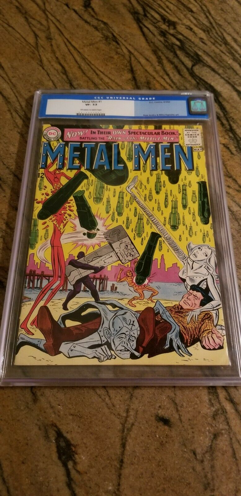 Metal Men # 1 CGC 7.5 OW to White Pages Old Label (1963)