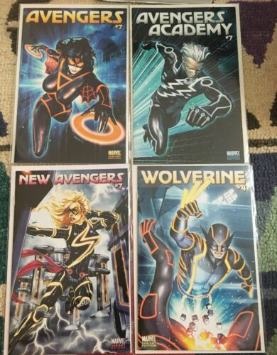 Avengers 7 Avengers Academy 7 New Avengers 7 & Wolverine 4 Tron Variant Cover