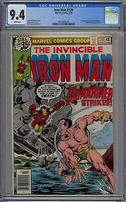 Invincible Iron Man #120 CGC 9.4 NM Wp 1st Justin Hammer App Marvel Comics 1979
