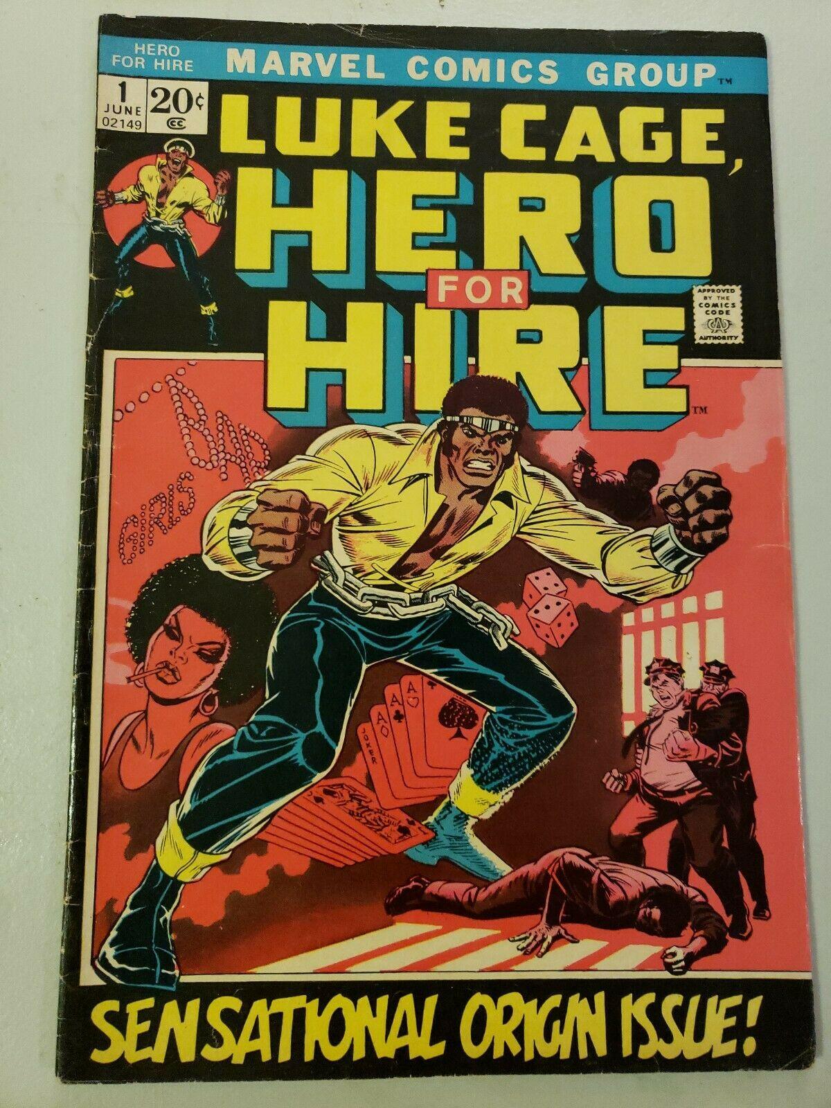 Marvel Comics Luke Cage Hero for Hire #1,1st issue origin story. (june 1972)