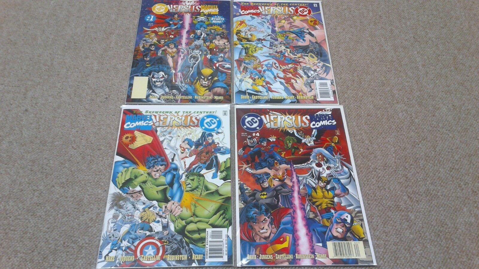 DC Versus Marvel / Marvel Versus DC #1-4 (1996) VF/NM Complete Mini Series Set