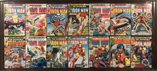 The INVINCIBLE IRON-MAN 117-231 COMPLETE Lot of 122 issues Run Set 118 128 WOW
