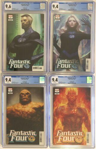 FANTASTIC FOUR #1 Lau Variant All 4 CGC Comic Set Lot Marvel Unlimited