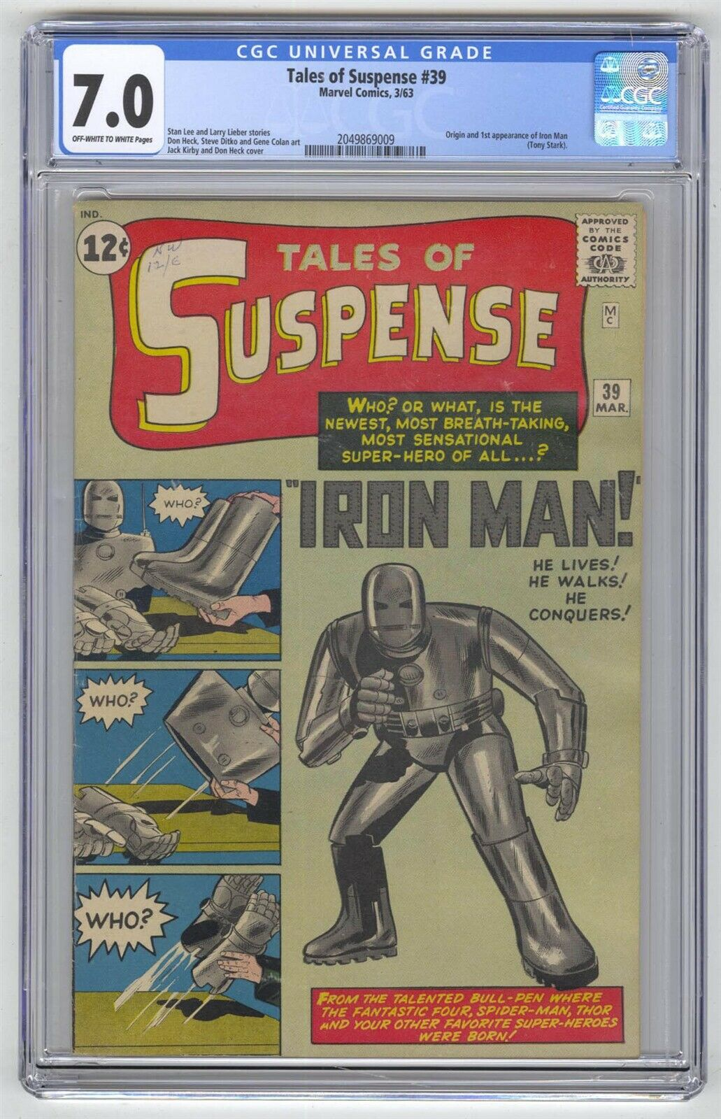 Tales of Suspense #39 CGC 7.0 HIGH GRADE Marvel Comic MEGA KEY 1st Iron Man