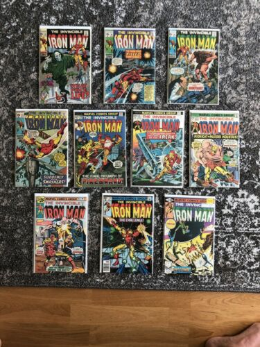 Iron Man # 19 23 24 31 59 67 79 85 134 137 - (10 Issues) Marvel Comic Book Lot