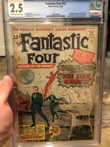 Fantastic Four 13 Cgc 2.5 First Appearance Watcher 1st App White Pages FF13