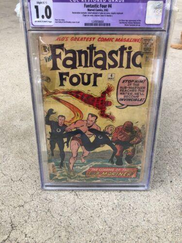 Fantastic Four 4 CGC 1.0 1st App Submariner