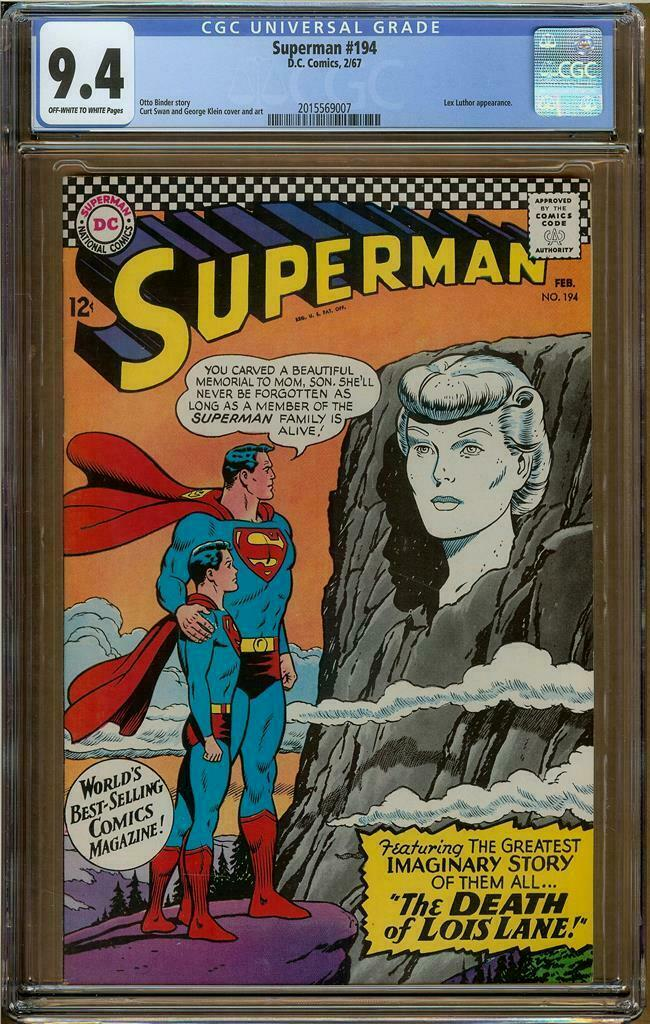 Superman #194 CGC 9.4 Lex Luthor Appearance