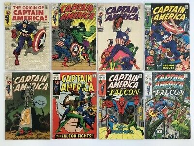 Captain America 101 - 368 Set Run Lot 283 books 109 110 111 112 113 118 137 138