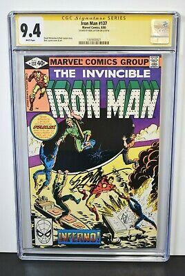 Iron Man #137 1980 CGC Grade 9.4 Signature Series Signed by Bob Layton