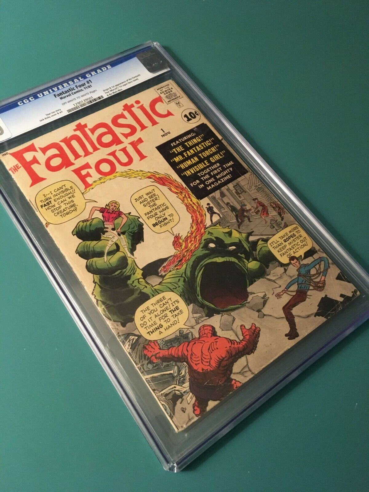 FANTASTIC FOUR #1 CGC 4.0 OW/W PAGES