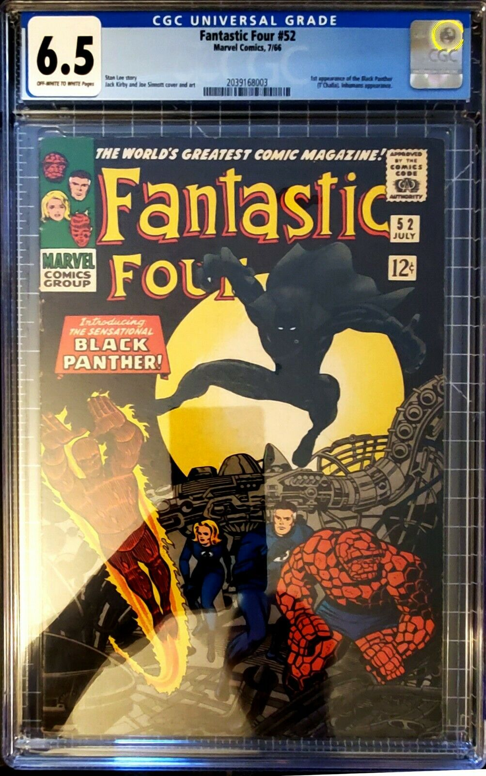 Fantastic Four #52 - CGC 6.5 Marvel 1966- 1st App of The Black Panther