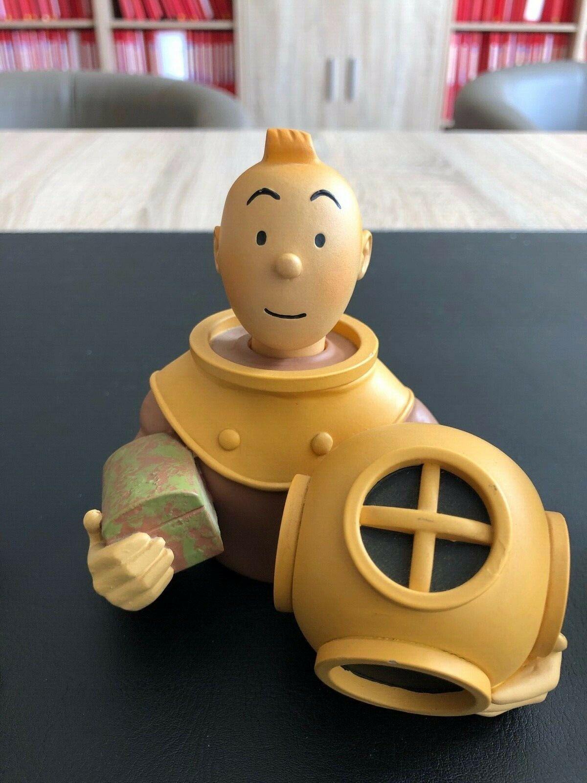 TINTIN PIXI REGOUT - Buste Tintin Scaphandrier certificat vignette No Leblon