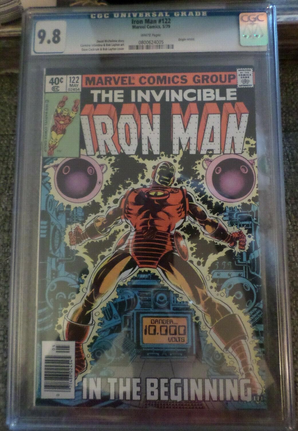 Iron Man Comic #122 CGC 9.8 WHITE Pages (5/1979 Origin Retold)