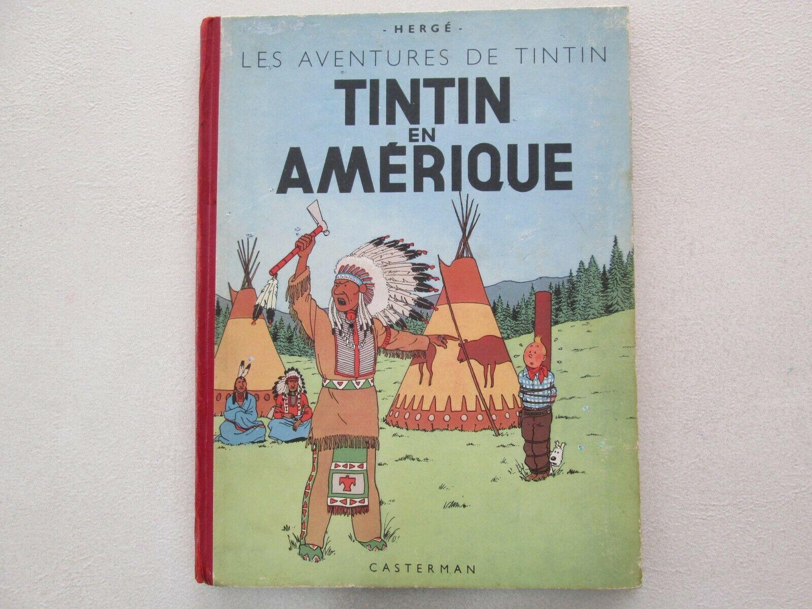 TINTIN EN AMERIQUE B2 1948 TBE RECARTONNAGE NOTE 1946