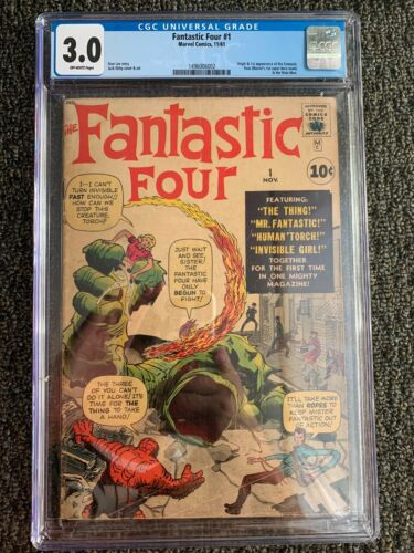 Fantastic Four 1 CGC 3.0 (OW Pages) 1st Appearance Fantastic Four - Marvel