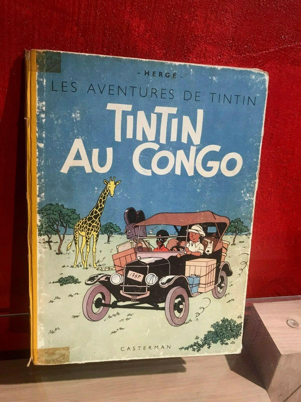 RARE/ TINTIN EN AMERIQUE/ EO COULEUR B1 1946/ DOS JAUNE/ HERGE /BON ETAT +