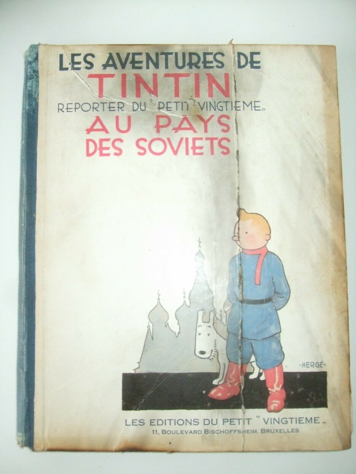 Tintin Au Pays Des Soviets EO Noir Et Blanc de 1930