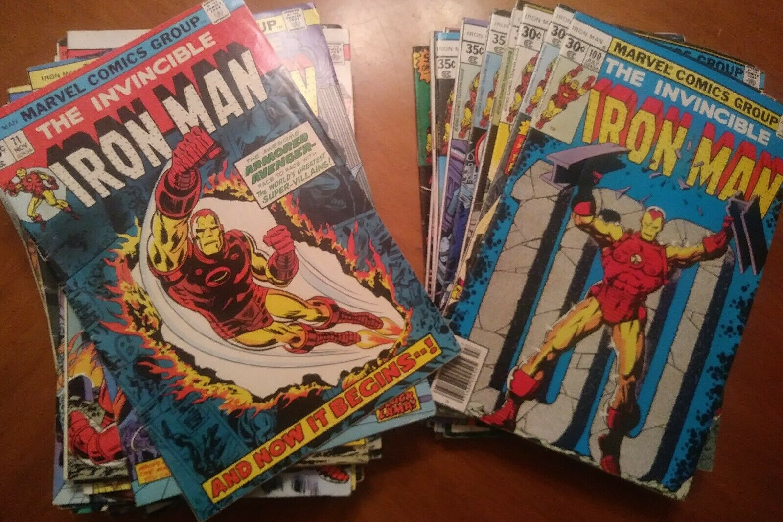 Iron Man Lot-71,72,73,74,75,76,77,78,79,80,81,82,83,84,85,86-100,101,102-117,119