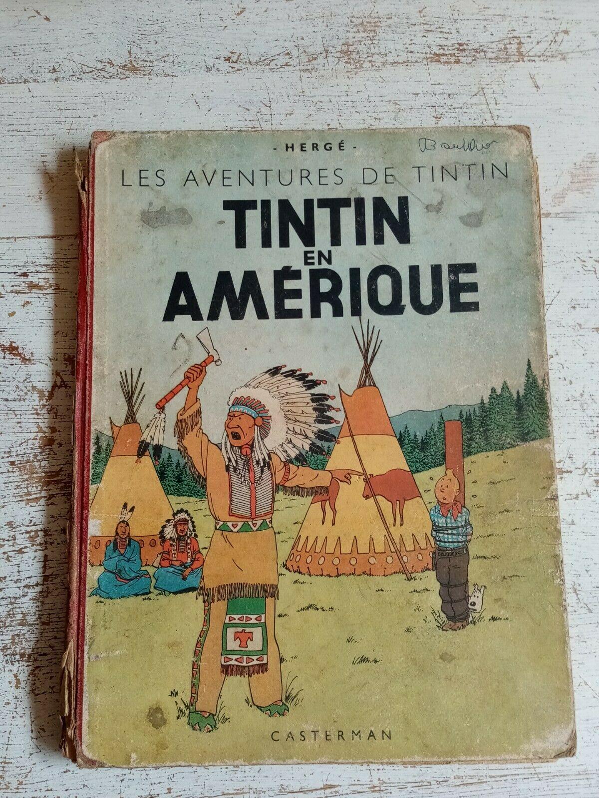 BD TINTIN EN AMERIQUE-EO COULEURS-1946-PAPIER EPAIS ?