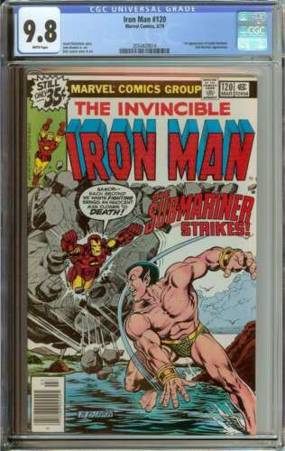 IRON MAN #120 CGC 9.8 WHITE PAGES