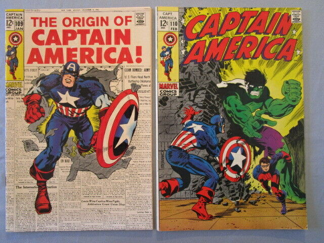 CAPTAIN AMERICA LOT not cgc raw  22 total  109,110,118,137,138,153 higher grades