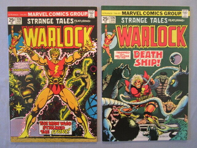CAPTAIN MARVEL--WARLOCK BRONZE AGE LOT not cgc raw  1, 25, 33 STRANGE TALES 178
