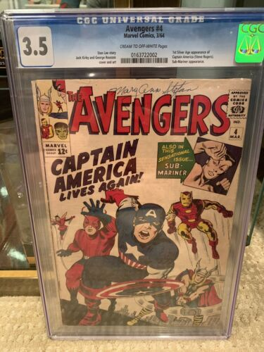 avengers 4  cgc 3.5 First Silver Age Captain America