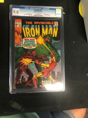 the invincible iron man 22 Cgc 9.0