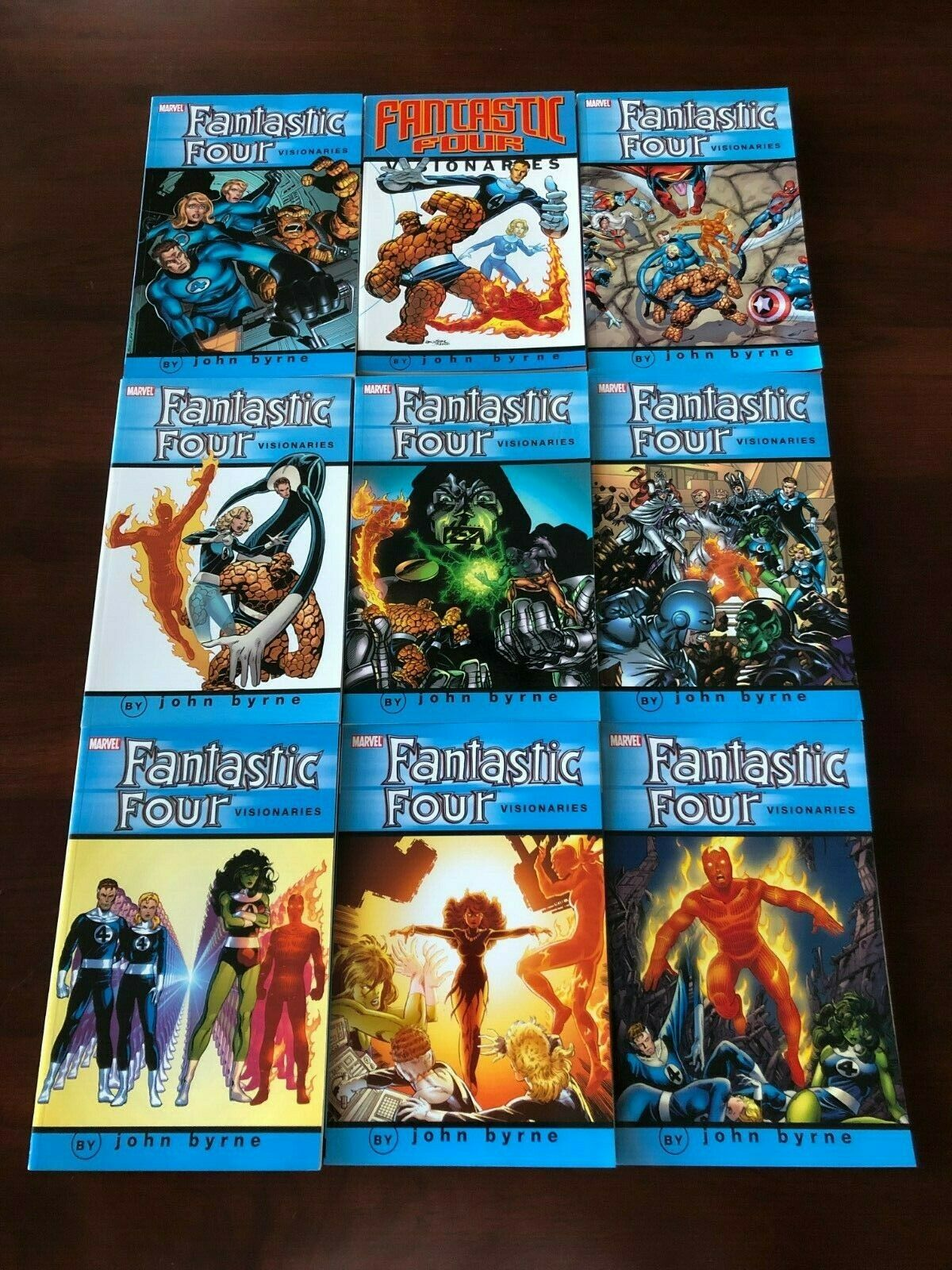 FANTASTIC FOUR VISIONARIES JOHN BYRNE COMPLETE TPB SET VOLUMES 0 1 2 3 4 5 6 7 8