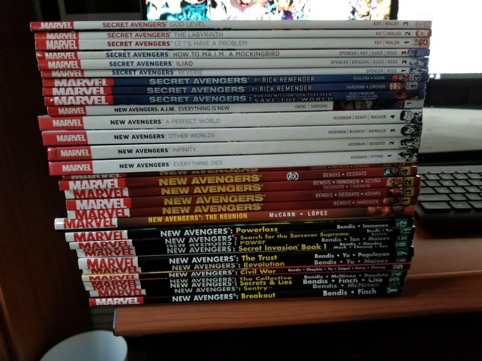 HUGE Lot of 31 Marvel Avengers Graphic Novels TPB Secret Avengers New Avengers