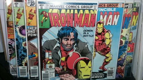 THE INVINCIBLE IRON MAN 120-128 VF+ DEMON IN A BOTTLE STORYLINE LOT