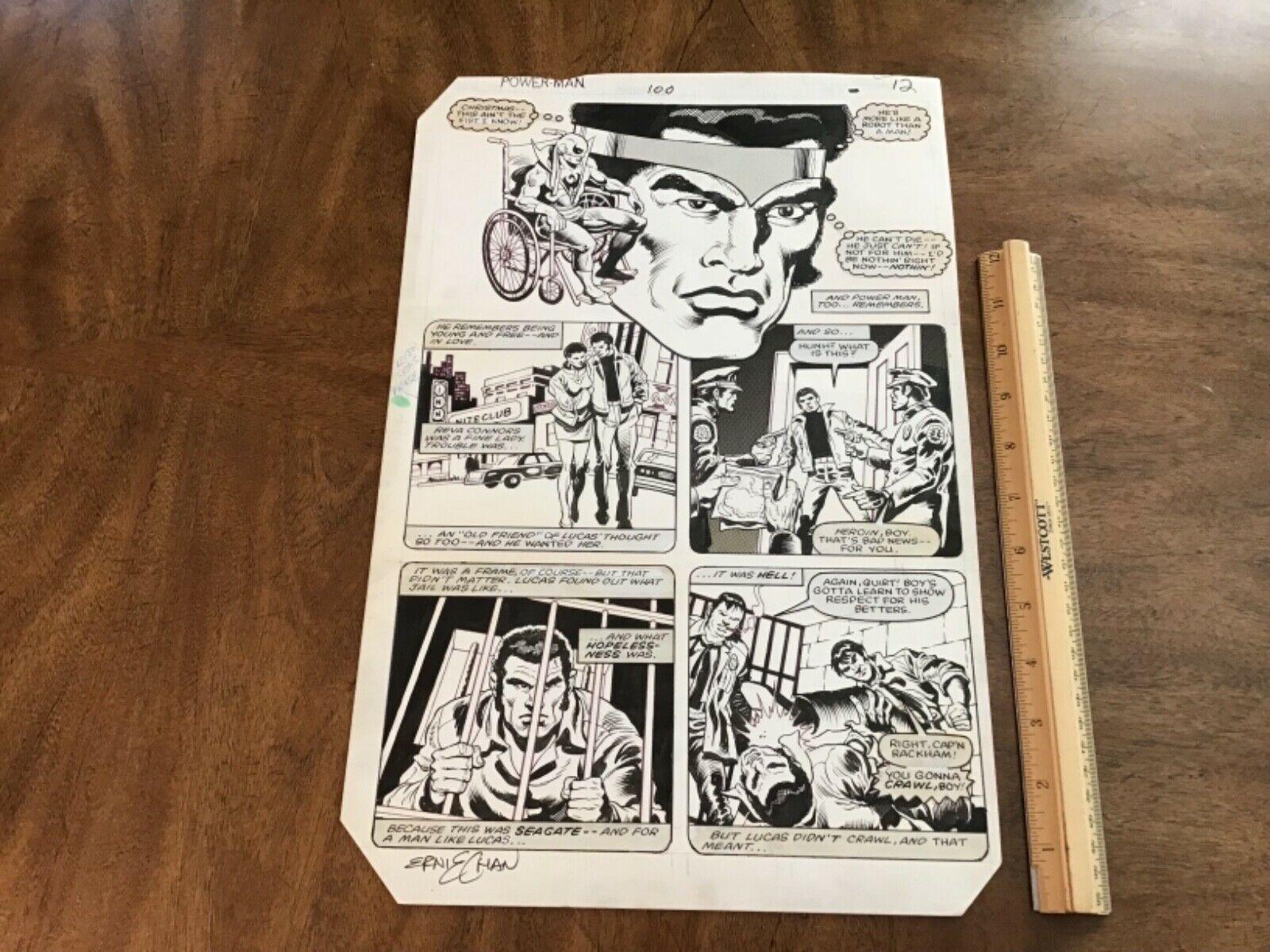 Original Power Man & Iron Fist 100 Page 12 Marvel Comics Art 1983 by Ernie Chan