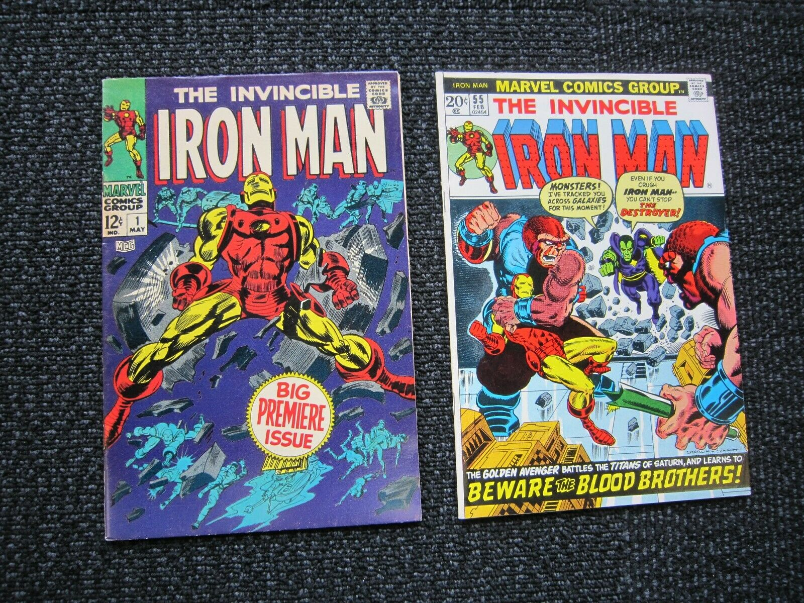 Iron Man comic lot - #1 to #100, nice complete run, highgrade, 1st Thanos