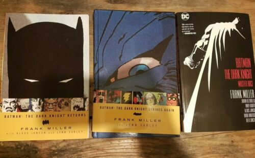 Batman The Dark Knight Returns, Strikes Again, and Master Race graphic novel TPB