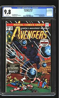 Avengers 137 CGC 9.8 NM/MINT Moondragon Thor Iron Man John Romita cover Marvel