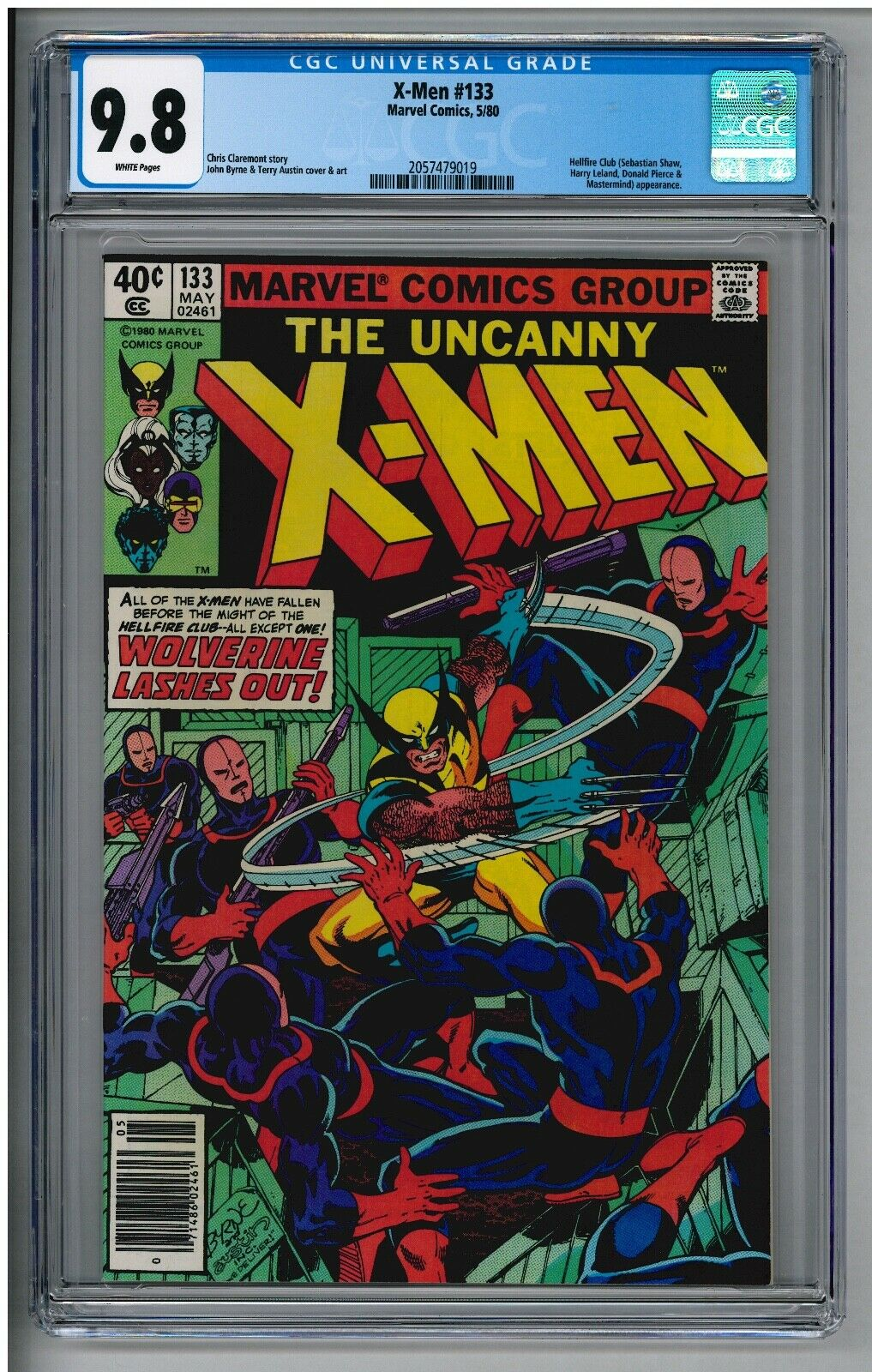 UNCANNY X-MEN 133 CGC 9.8 NM/MT WHITE PAGE NEWSSTAND VARIANT WOLVERINE '80 BYRNE