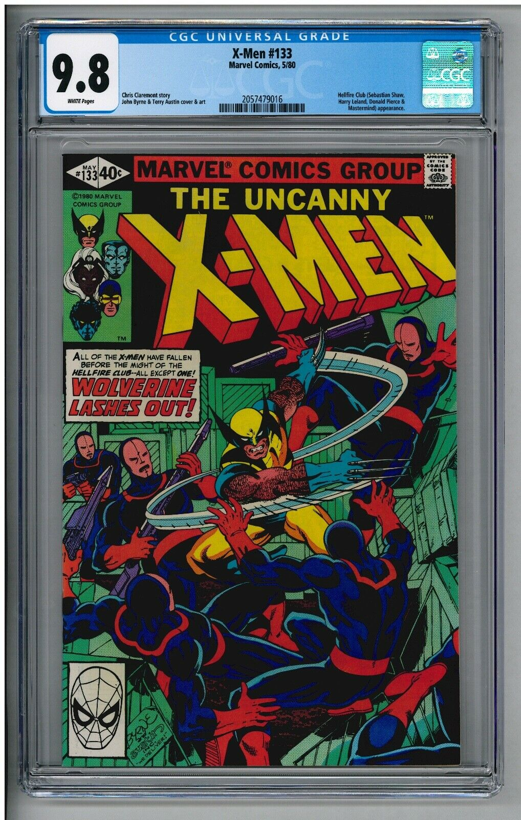 UNCANNY X-MEN 133 CGC 9.8 NM/MT WHITE PAGES 1st Solo WOLVERINE Cover 5/80 BYRNE