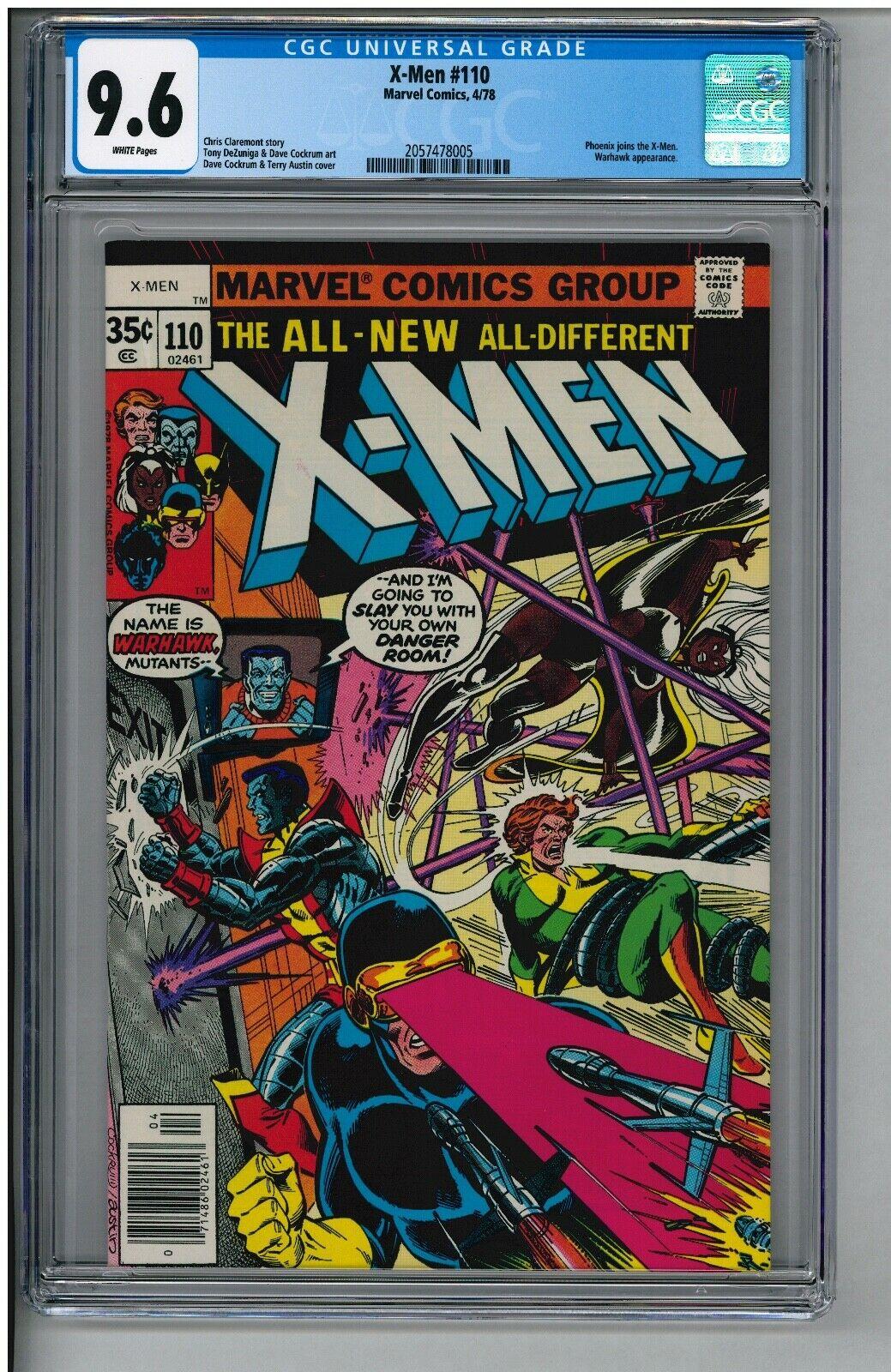UNCANNY X-MEN 110 CGC 9.6 NM+ WHITE PAGES NEWSSTAND KEY PHOENIX JOINS X-MEN 4/78