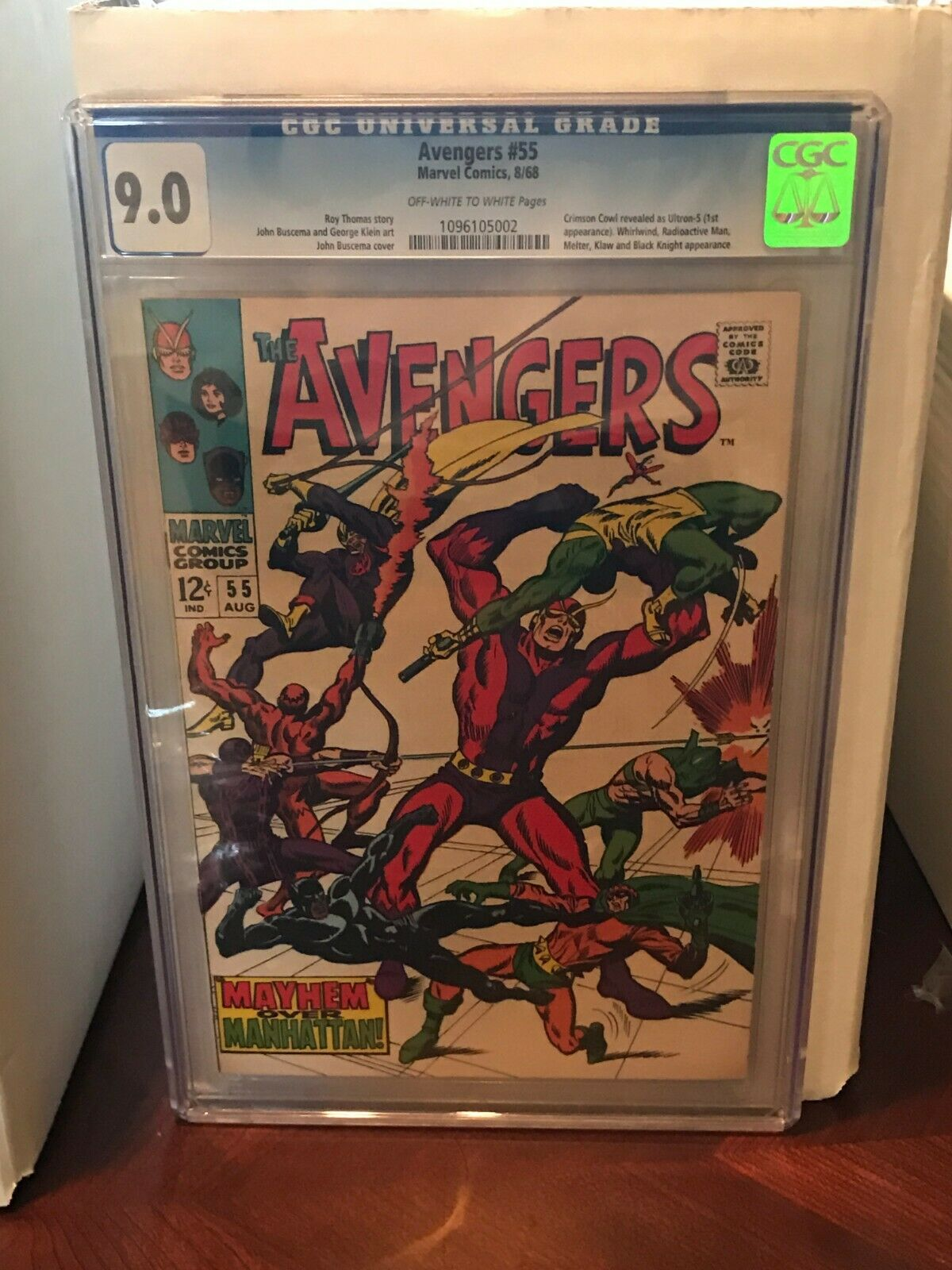 The Avengers #55 - CGC 9.0 - 1st Appearance of Ultron
